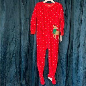 Girls 4T Christmas one piece pajamas